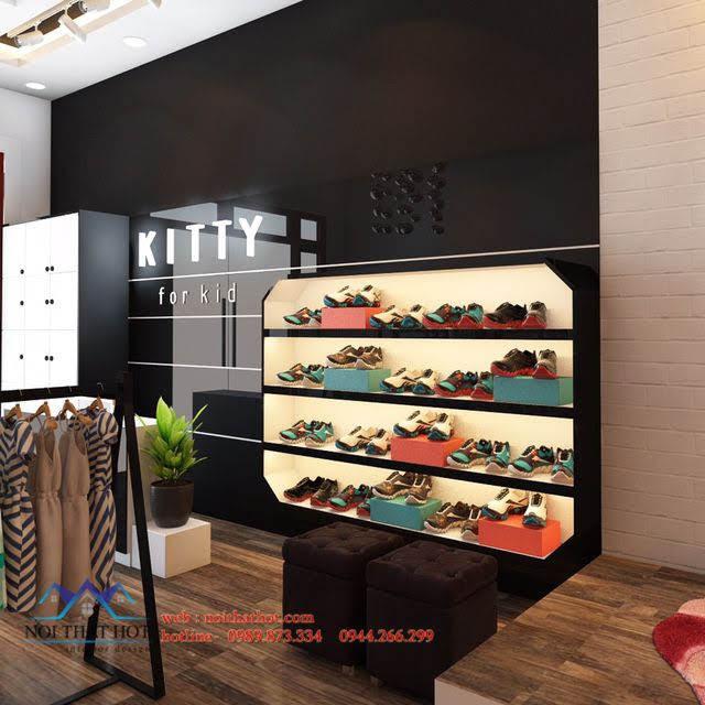 thiết kế shop thời trang trẻ em kitty 4