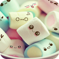 Cute Marshmallow cartoon Theme for android free download