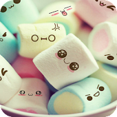 Cute Cartoon Marshmallow Comic theme: Candy Skins
