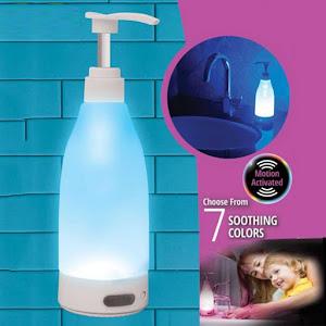 Dozator de sapun cu lumina LED, 400 ml, senzor de miscare