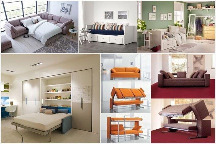Điểm cộng giường gỗ gấp thông minh