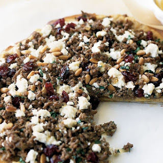 Middle Eastern Lamb And Cranberry Pizzas