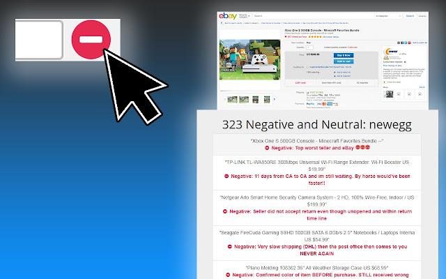 1-Click View Negative Ebay Feedback