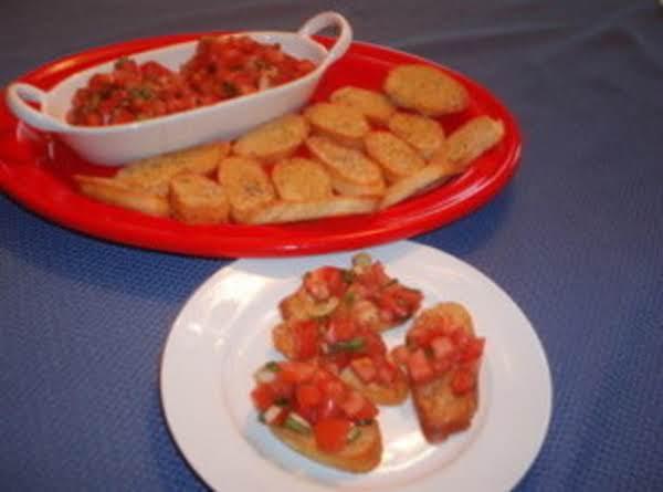 Basil Tomatoes On Toastettes Recipe
