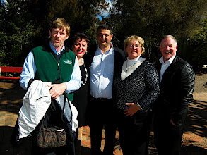 Photo: Bryn Sherna and old friends at the Bahá'í Temple