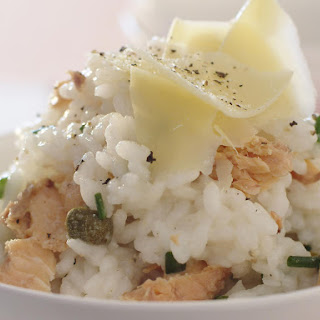 Salmon and Chive Risotto.