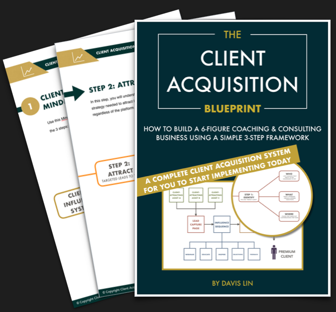 Davislin the client acquisition blueprint for coaches consultants experts malvernweather Choice Image
