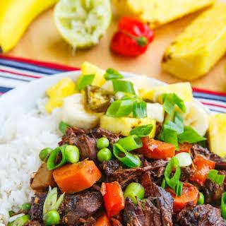 Jamaican Style Jerk Beef Stew.