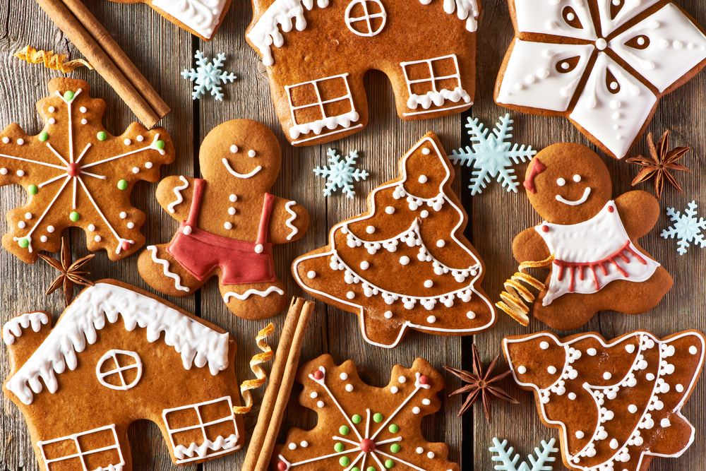 a variety of gingerbread cookies