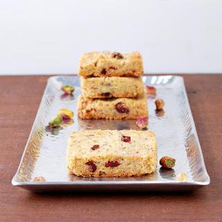 Pistachio, Cranberry and Cardamom Shortbread Recipe
