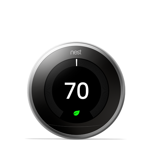 Google Nest Learning Wi-Fi Thermostat (3rd Gen) - Black