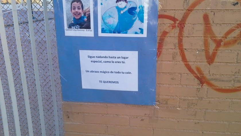 Mensaje de despedida al pequeño Gabriel Cruz.