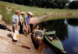 Photo: 1982: Startvorbereitungen für die  Ems/Vechte-Fahrt