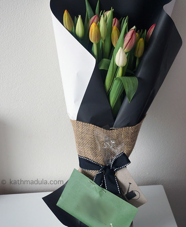 Fresh Flowers: Bouquet of Vivid Tulips