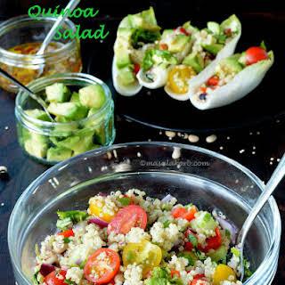 Black Eyed Pea Quinoa Salad in Endive Boats   Quinoa Salad Recipe With Zesty Vinaigrette.