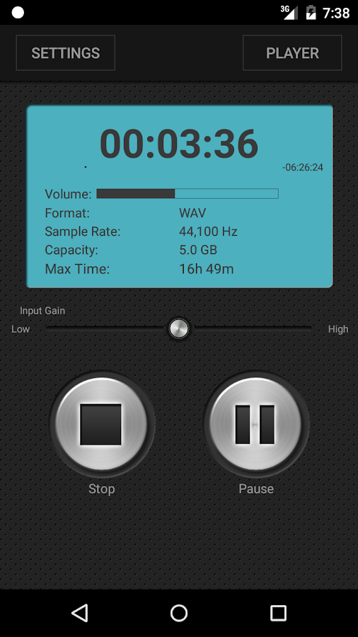 PCM Recorder- screenshot