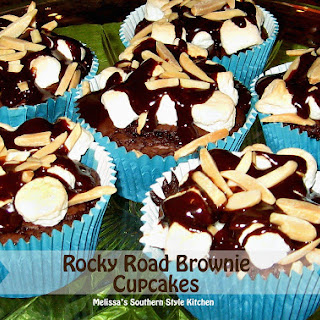 Rocky Road Brownie Cupcakes.