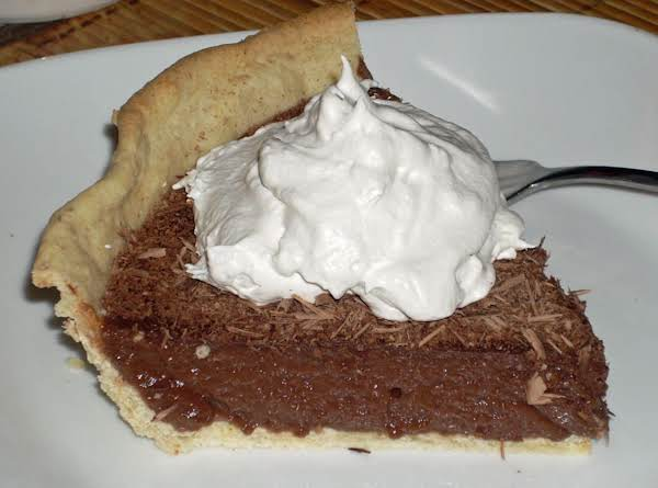Chocolaty Pudding Pie With Blind Baked Coconut Oil Crust