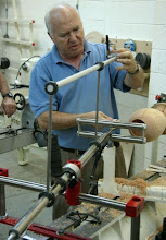 Photo: Showing how to set the laser alignment on the Keith Clark Deep Hollower