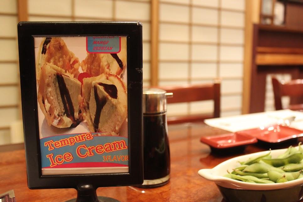 Tempura Ice Cream on the menu at Ichiban Fish House