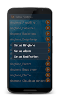Screenshot of Galaxy Ringtones