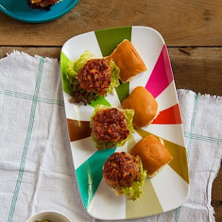Meat Loaf Sliders with Tomato-Bacon Ketchup