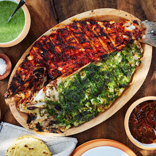 Contramar's Red and Green Grilled Snapper