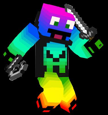 this is a rainbow man with 100% of epicity/este es un hombre arco iris con 100& de fachada