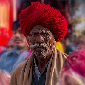 the heads man by Debasis Banerjee - People Street & Candids ( tribes, rajasthan, india, fair, people, rural )