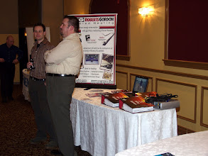 Photo: Ismet manned the Roberts Gordon tabletop display