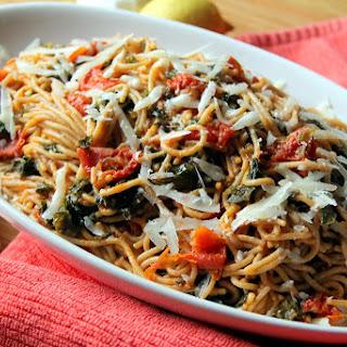 Kale and Sun-Dried Tomato Whole-Wheat Spaghetti