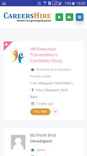 Download CareersHire- India's No:1 Job Portal For PC Windows and Mac apk screenshot 2