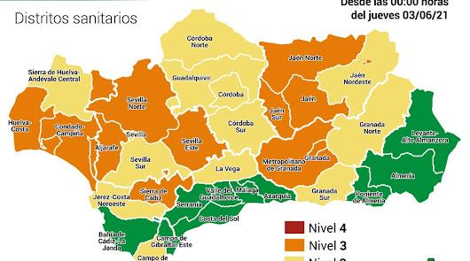 Almería, única provincia en el nivel más bajo de alerta por Covid-19