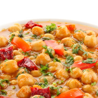 African Curried Coconut Soup with Chickpeas