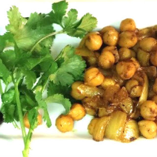 Vegan Curried Chickpeas in a Flash.