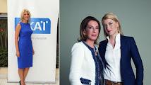 Photo: Σία Κοσιώνη (Πιθηκάνθρωπος, Κρόνια-Nephilim, αριστερά τη βλέπουμε μόνη της και δεξιά με την Όλγα Τρέμη πρώην παρουσιάστρια ειδήσεων του MEGA, η Σία Κοσιώνη είναι παρουσιάστρια στις ειδήσεις του τηλεοπτικού σταθμού ΣΚΑΪ, πράκτορας-πληροφοριοδότης στις Γαλλικές αρχές, υπεύθυνη να υποκρύπτει όλα τα εγκλήματα των Γάλλων επιχειρηματιών βιομηχάνων-τραπεζιτών που καταγγέλλονται εναντίον της Ελλάδος, εργάζεται για την Παγκόσμια Κυβέρνηση των Ιουδαίων, σύντροφος του νεώτερου σαυρανθρώπου Ιουδαίου Κώστα Μπακογιάννη)