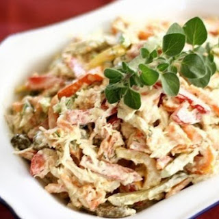 Salad With Chicken And Walnuts