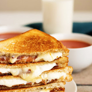 Grown Up Bacon Grilled Cheese Sandwich.