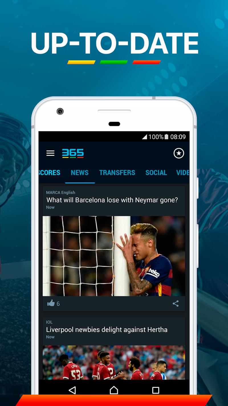 365Scores - Live Sports Score, News & Highlights Screenshot 4