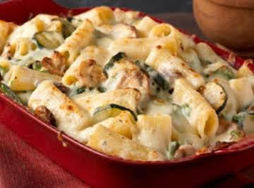 Creamy Creamy Zucchini & Spinach Rigatoni