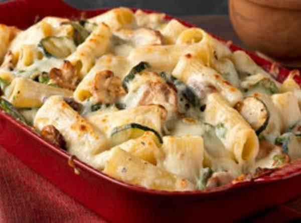 Creamy Creamy Zucchini & Spinach Rigatoni Recipe