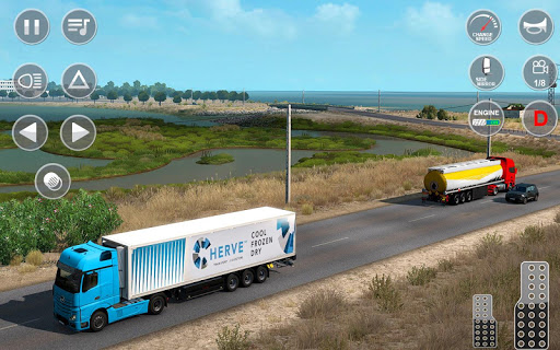 Indian Truck Offroad Cargo Drive Simulator apktram screenshots 3