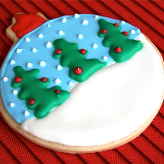 Snow Globe Ornament Sugar Cookies