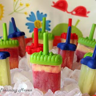 Homemade Frozen Fruit Pops.