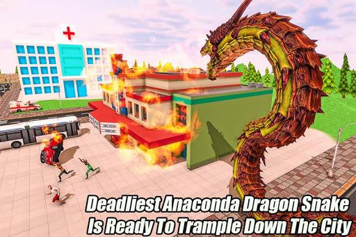 Furious Anaconda Dragon Snake City Rampage screenshot 1