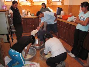 Photo: Kneading dough