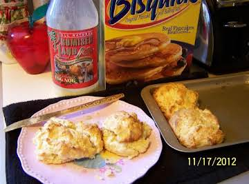 Eggnog-Bisquick Biscuits by Cin