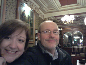 Photo: Kerri and Owen visited Edinburgh's most attractive pub that night - Cafe Royal.
