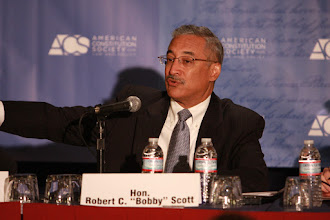 """Photo: Rep. Bobby Scott (D-Va.) serves on the panel """"Sentenced for Life: Considering the Collateral Consequences of Criminal Convictions""""."""