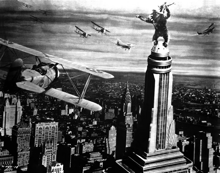 King Kong on top of the Empire State Building.